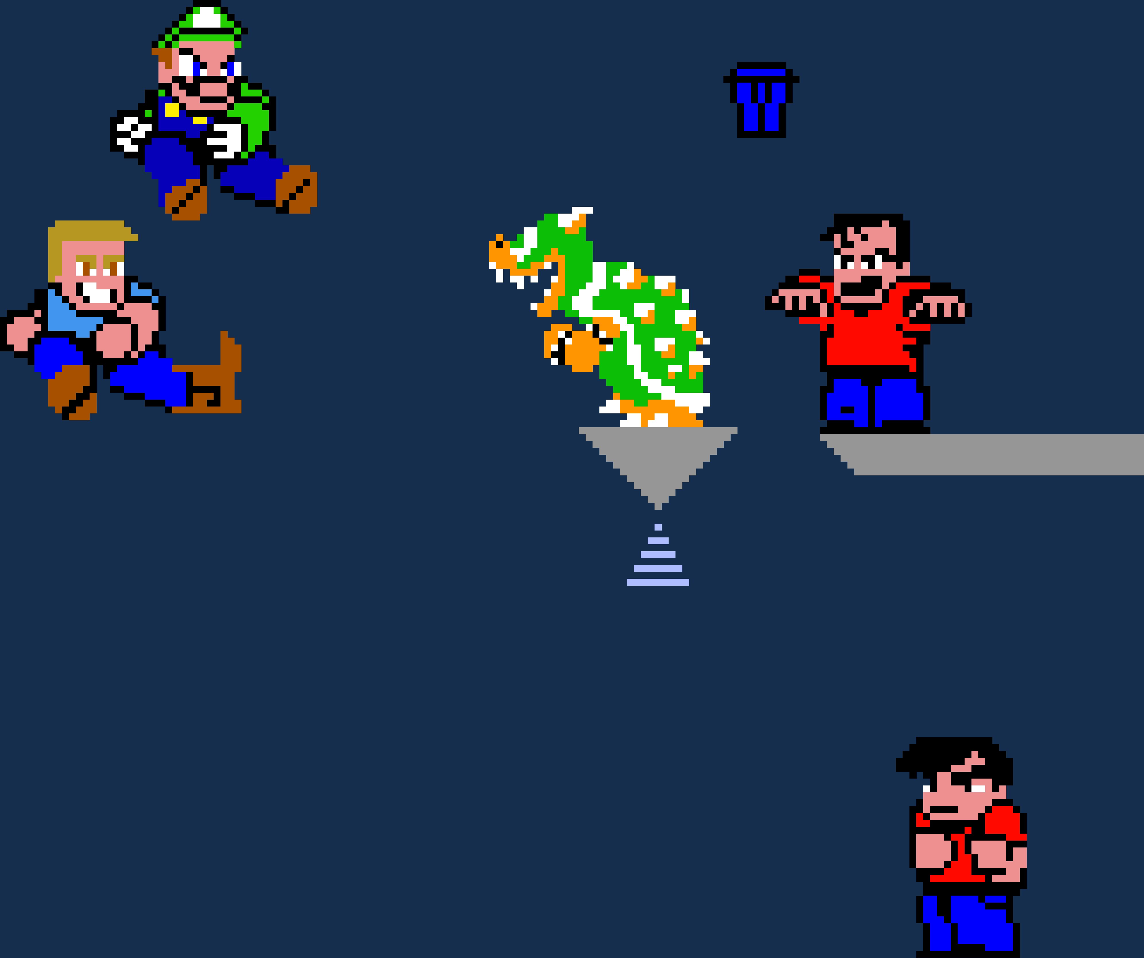 BATTLE ROYALE! Julio and Luigi VS Bowser and Slick - Grid Paint